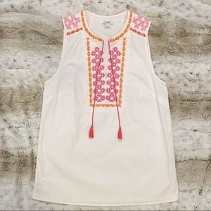 J Crew Factory Embroidered Top